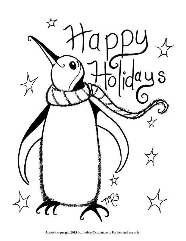 happy holidays and free printables 0 comments happy holidays penguin we