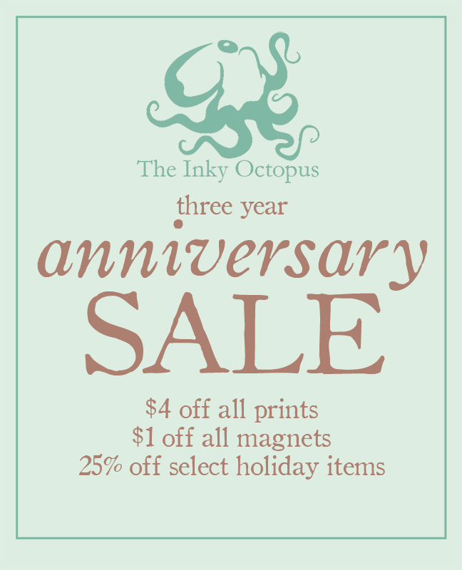 The Inky Octopus anniversary sale