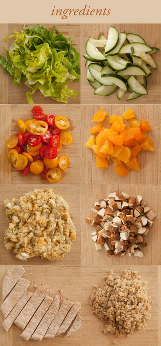 quinoa and chickpea salad ingredients