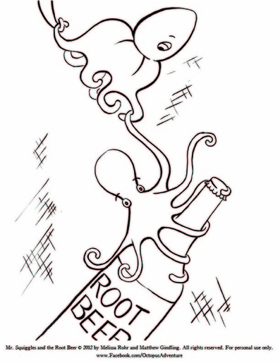 Printable Octopus Coloring Pages - The Inky Octopus