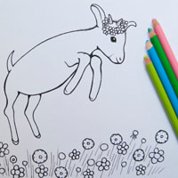 Free Goat Coloring Page