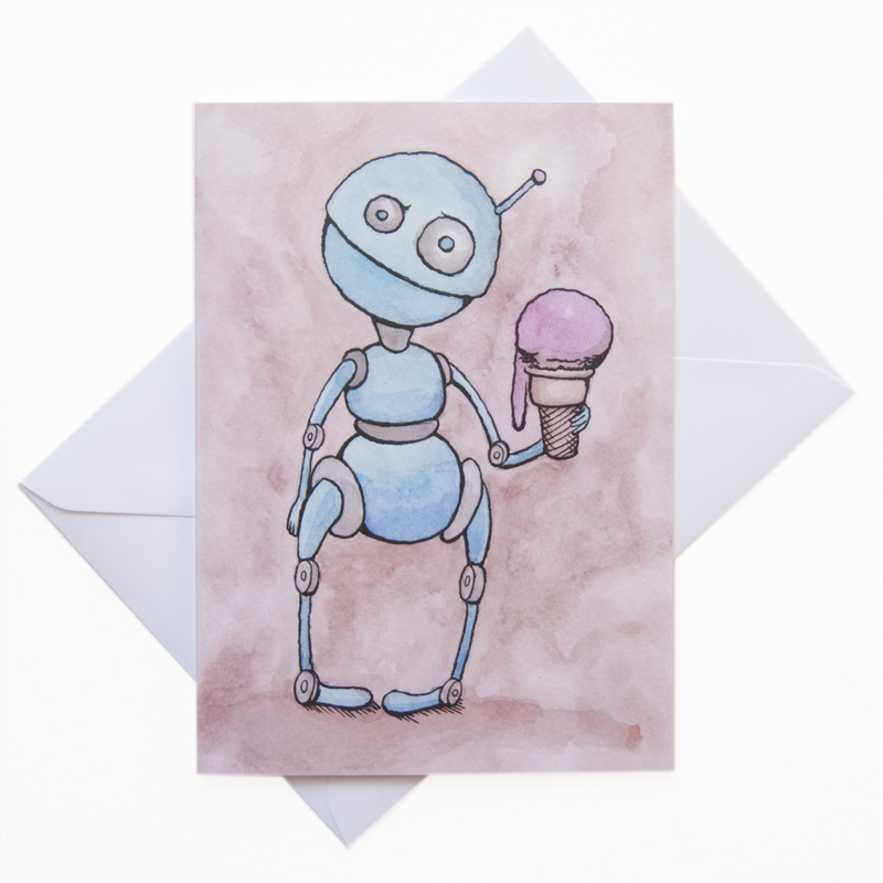 Robot Note Card