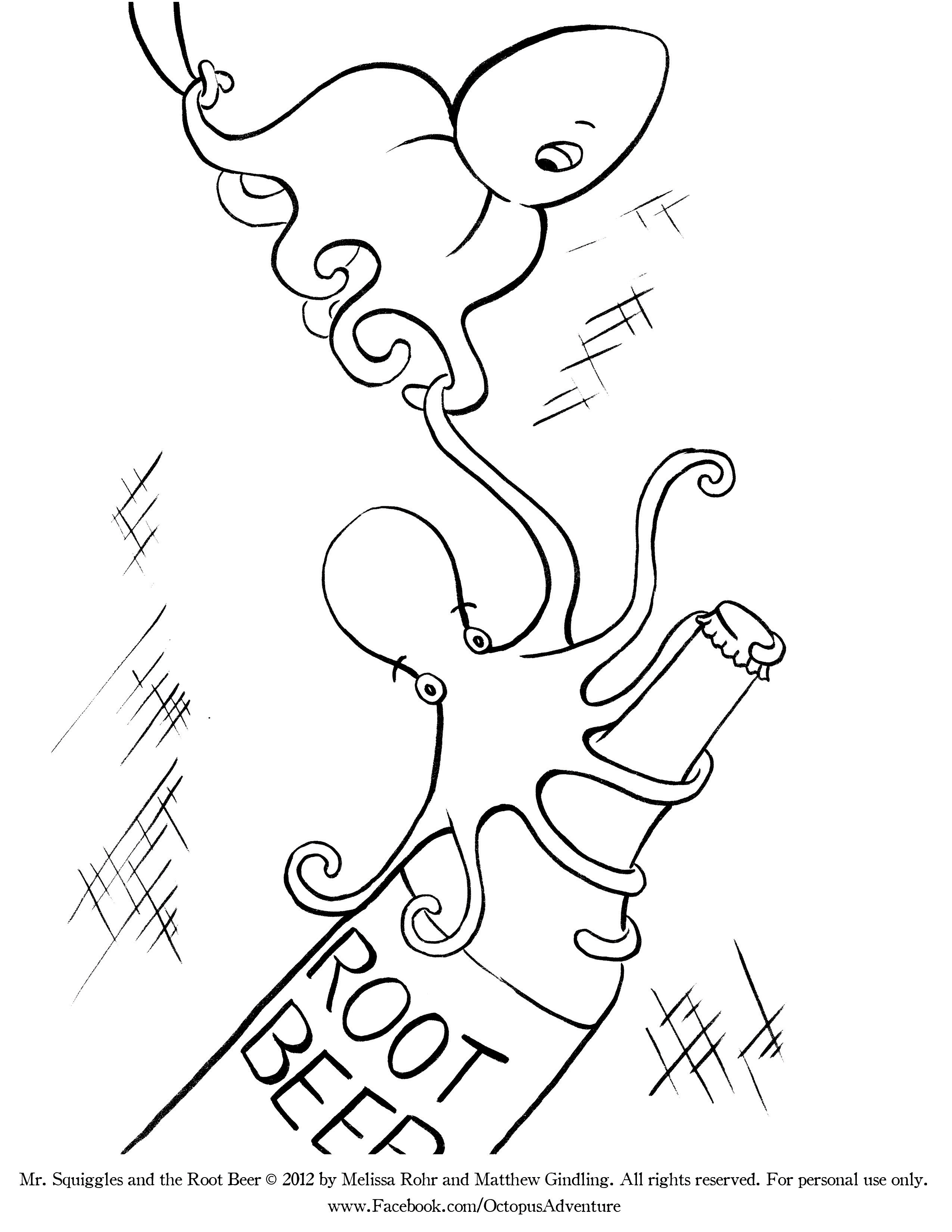 Coloring Pages Beer Coloring Pages printable octopus coloring pages the inky download file