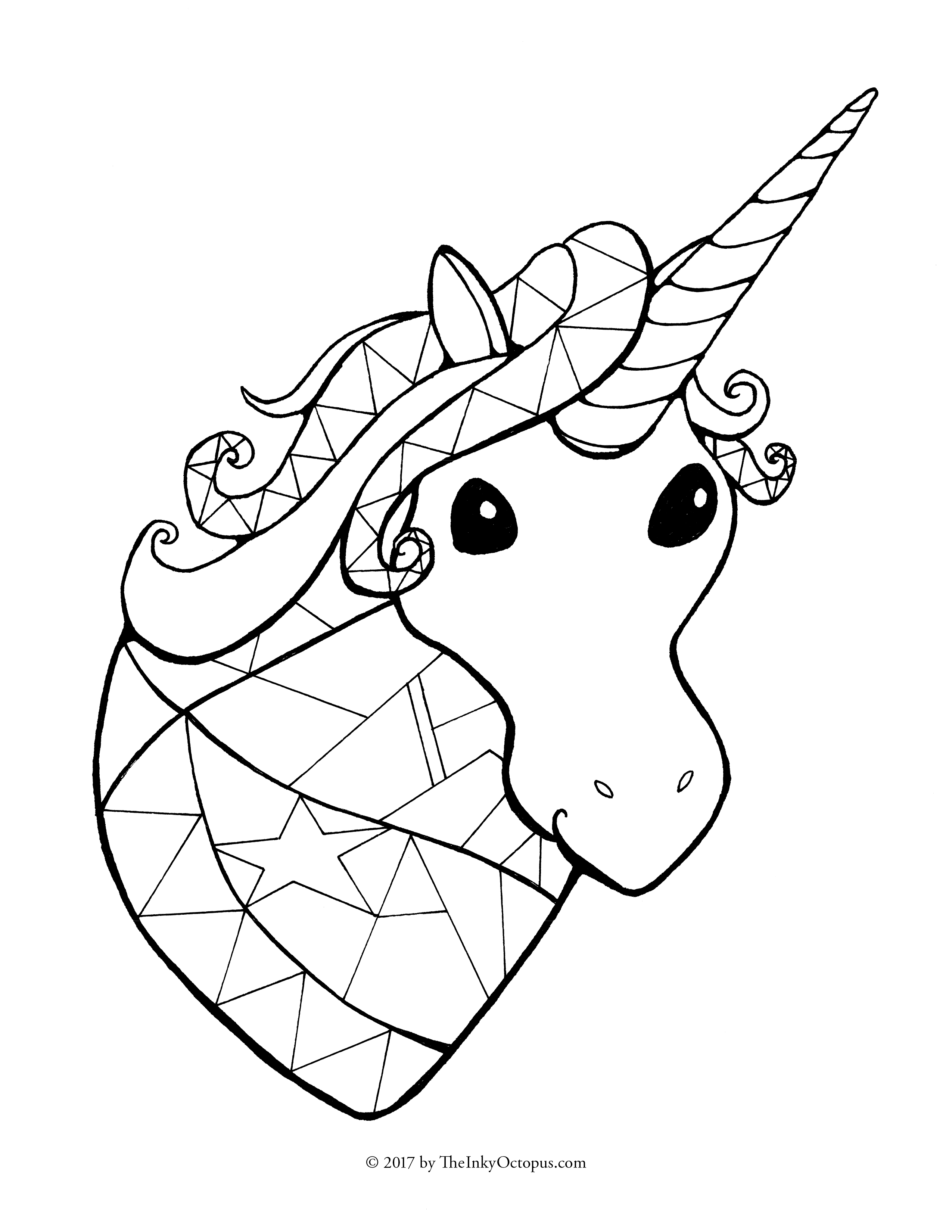 Unicorn family coloring pages - Download File
